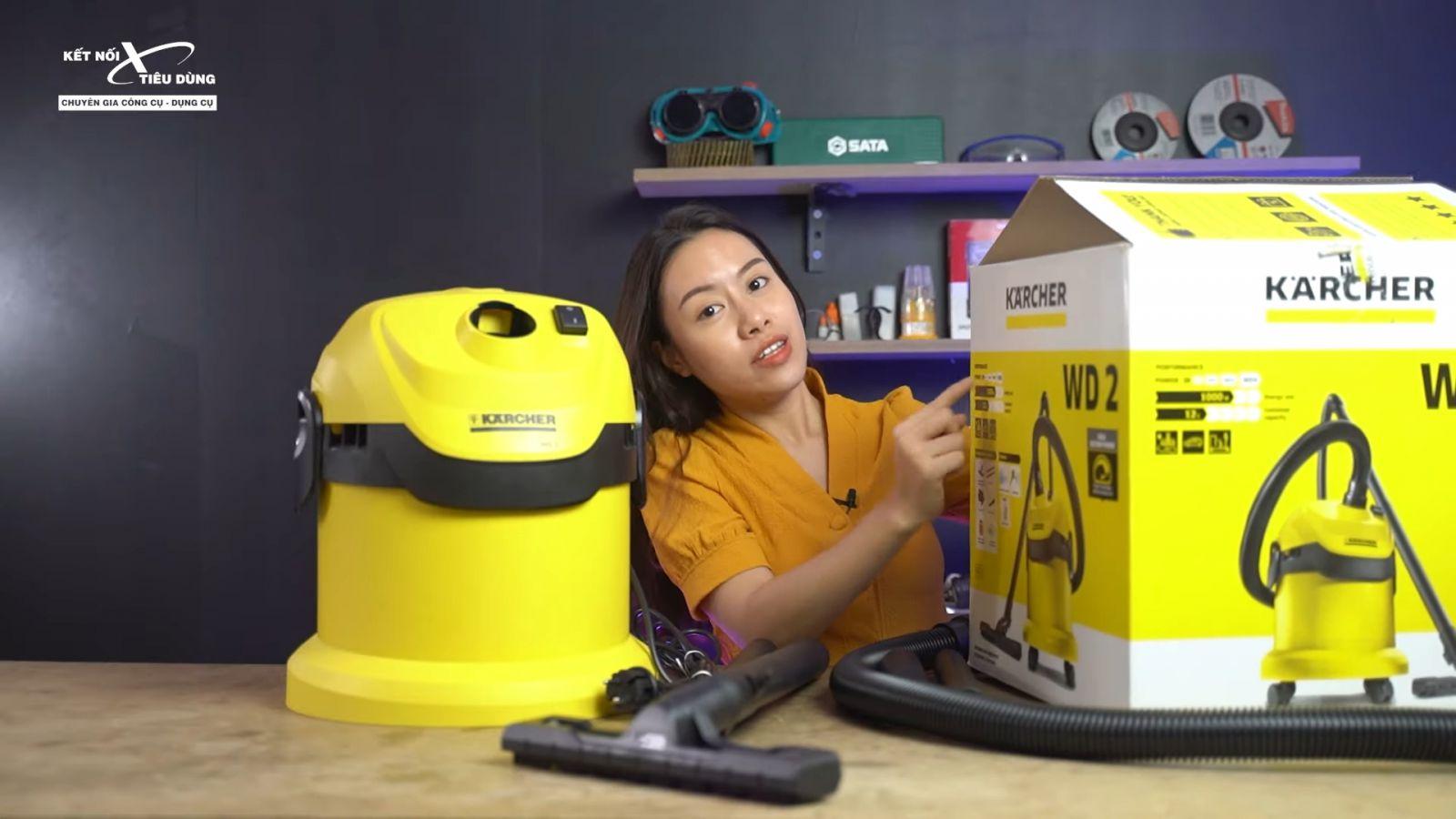 Review máy hút bụi khô và ướt cao cấp Karcher WD2 xịn sò, chuẩn công nghiệp - địa chỉ mua máy hút bụi