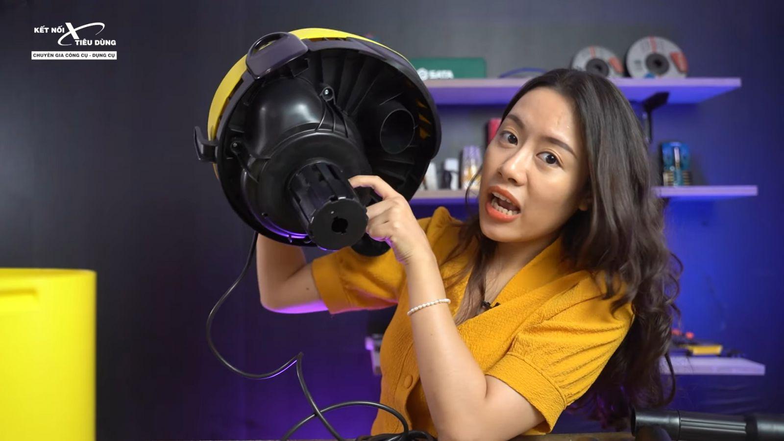 Review máy hút bụi khô và ướt cao cấp Karcher WD2 xịn sò, chuẩn công nghiệp - máy hút bụi đạt tiêu chuẩn an toàn IPX5