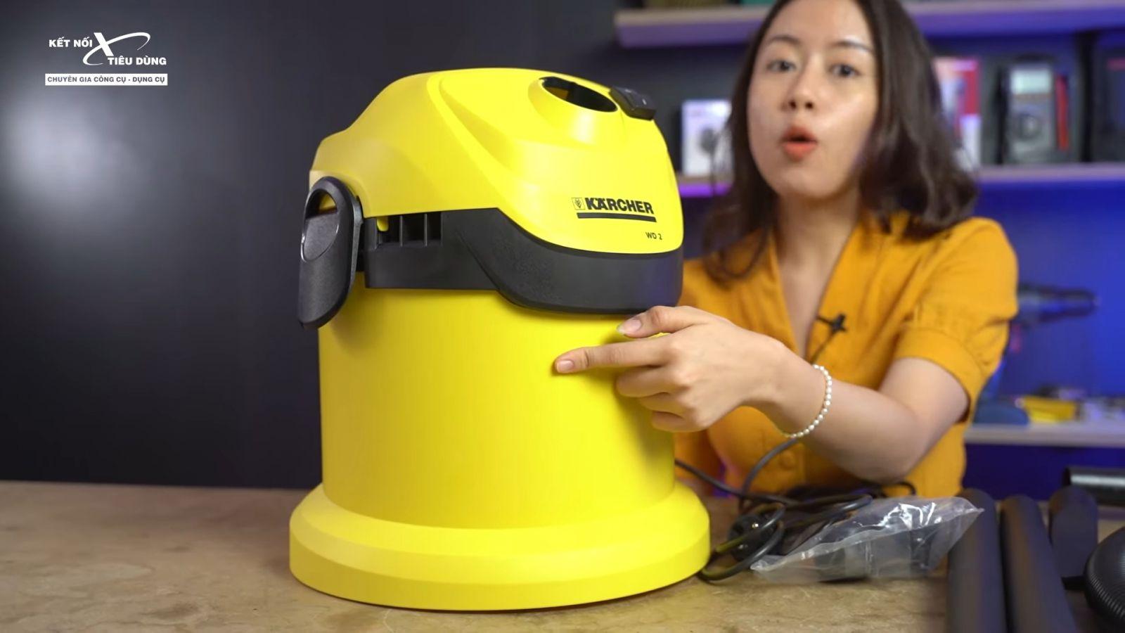 Review máy hút bụi khô và ướt cao cấp Karcher WD2 xịn sò, chuẩn công nghiệp - thiết kế máy hút bụi