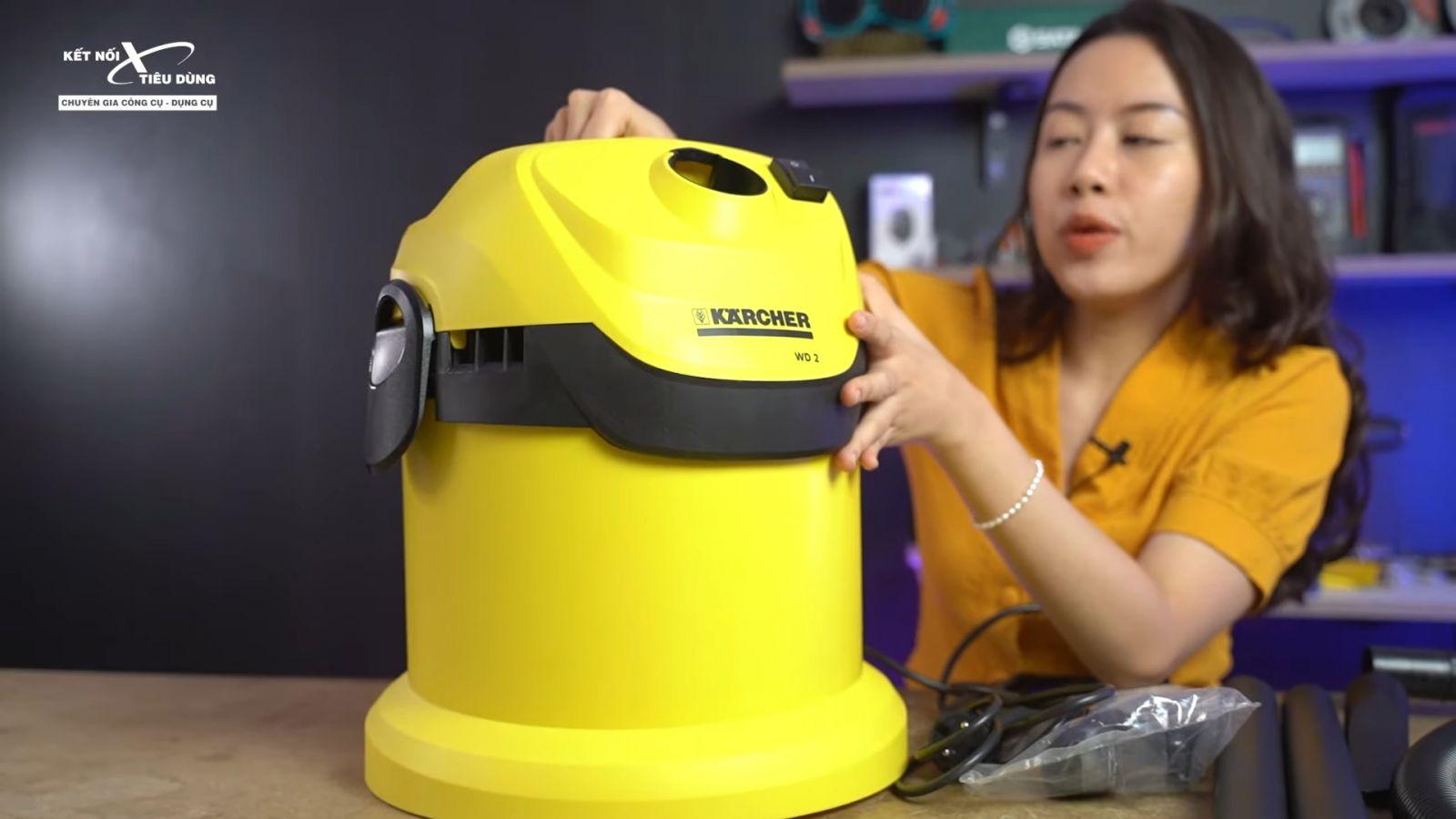 Review máy hút bụi khô và ướt cao cấp Karcher WD2 xịn sò, chuẩn công nghiệp - thương hiệu sản xuất máy hút bụi