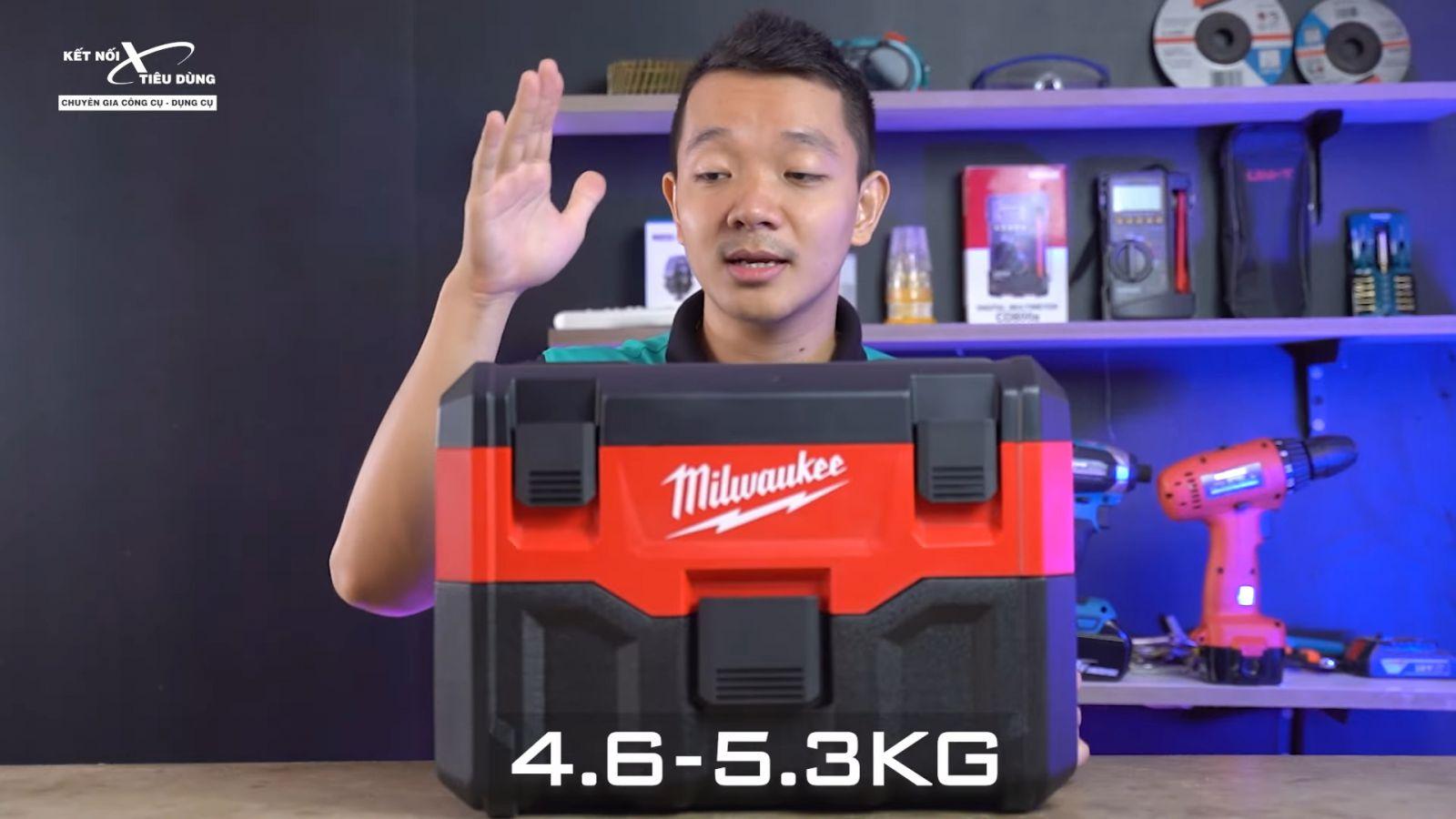 Review thùng ướp bia Milwaukee đội lốt máy hút bụi - M18 VC2: Xịn sò, hầm hố, build cao, đi công trường ngon - ưu điểm nổi bật của máy hút bụi