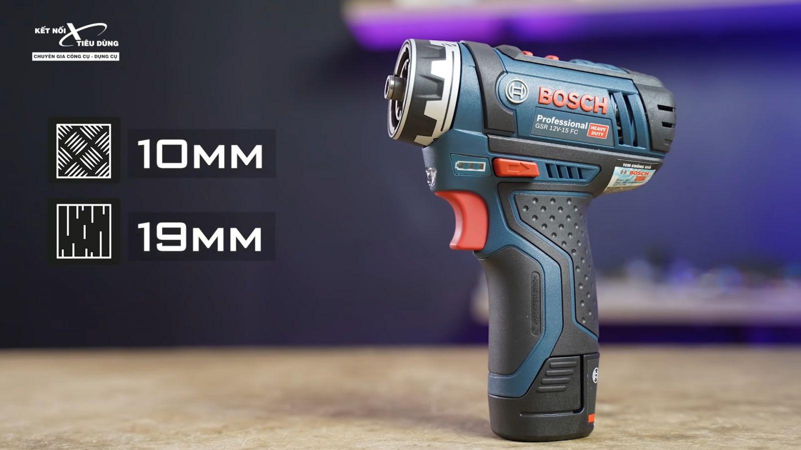 Review xử lý mọi ngóc ngách với máy khoan pin Bosch GSR 12V-15FC: siêu gọn nhẹ, công năng linh hoạt với 4 đầu khoan - những ai nên sở hữu máy khoan