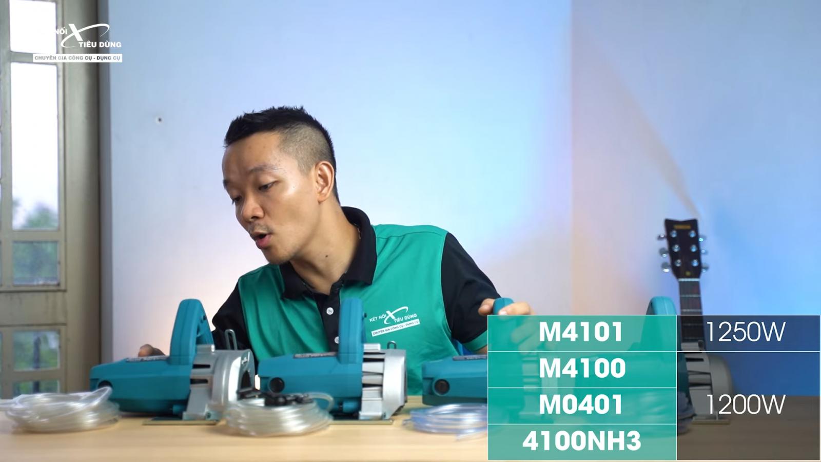 So sánh 4 con máy cắt gạch Makita 4100NH3, M4100, M4101, M0401 trong tầm giá hơn 1 triệu đồng