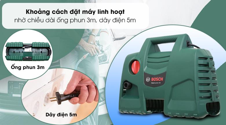 Top 5 máy rửa xe Bosch giá rẻ, đáng mua nhất năm 2021 - ưu điểm nổi bật của máy phun rửa áp lực Bosch Aquatak AQT 100 LL 06008A7EK1