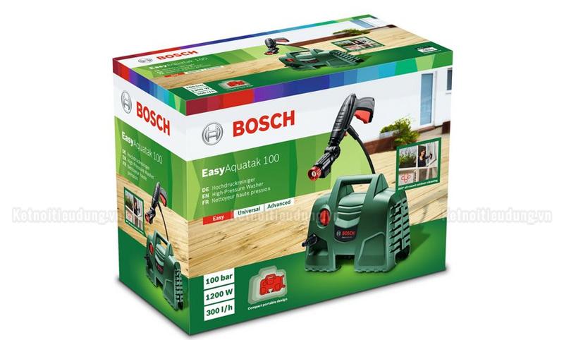 Top 5 máy rửa xe Bosch giá rẻ, đáng mua nhất năm 2021 - ưu điểm nổi bật của máy phun rửa áp lực Bosch Aquatak AQT 100